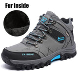 Plus Size 39-47 Winter Fur Snow Men Boots Autumn Non-Slip Rubber Sole Men Ankle Boots Waterproof Men Shoes Footwear