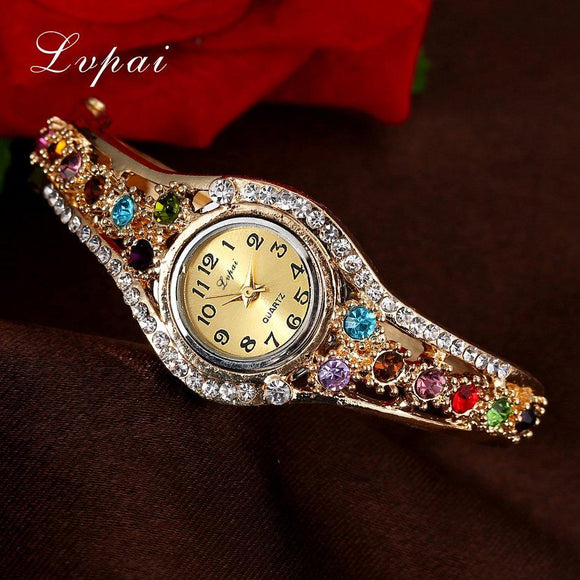 Lvpai Top Brand Luxury Bracelet Quartz Watch Women Female Wristwatch Women Clock Wrist Bangle Female Ladies Dress Quartz Watch