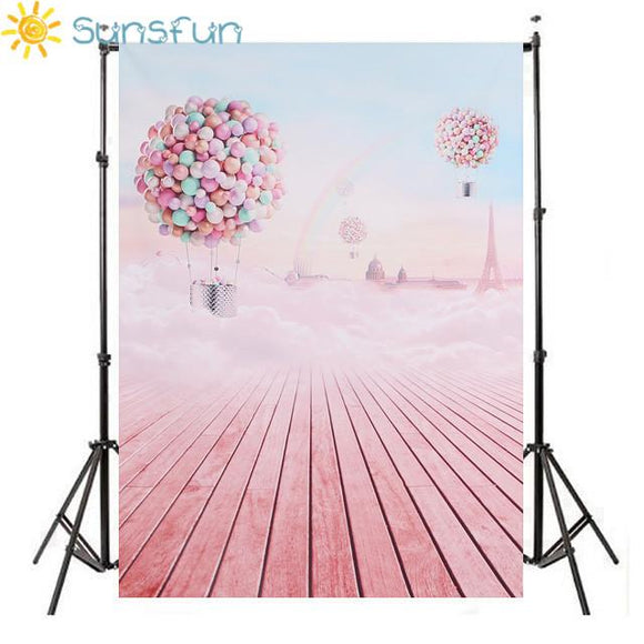 PINK Rainbow Photography Background Computer Printed Children Photography Backdrops For Photo Studio HB05