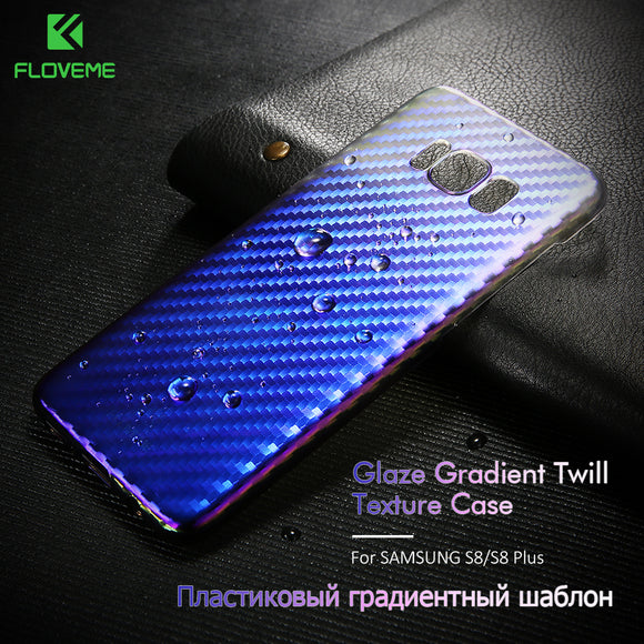 FLOVEME Case For Samsung Galaxy S8 S8 Plus Case Luxury Gradient Changing Colors Cover For Samsung S8 Plus Hard Phone Case Shell