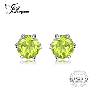JewelryPalace Natural Peridot Earrings Stud Genuine 925 Sterling Silver Jewelry Fabulous Vintage Gemstone Jewelry