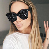 New Fashion Mujeres Con Estilo Cat Eye Sunglasses Women Brand Designer Vintage Sun Glasses For Women Mirror