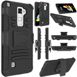 YUMQUA Cover Case For LG Stylus/Stylo 2 Protection Hybrid Armor Belt Clip Holster Kickstand Case for lg Stylo 2 V VS835 / LS775
