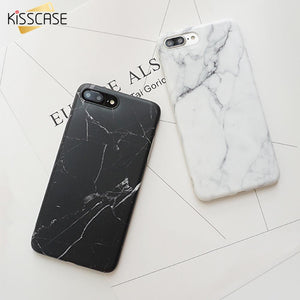 KISSCASE Phone Case For iPhone 6 6S Plus 5s SE Cover Soft TPU Protective Cover For iPhone 7 7 Plus Case Marble Pattern Cases