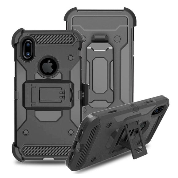 Luxury doom armor Dirtproof Shockproof back clip cell phone case cover For iphone 6 6S 6 plus 7 7 plus iphone 8 with brac