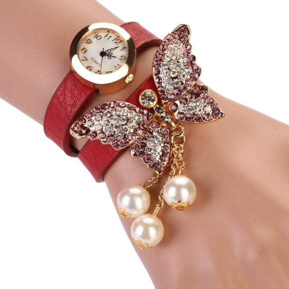 Lovely Butterfly Watch Women Bracelet Clock Women Luxury Rhinestone Watch Ladies Watch relogio feminino bayan saat reloj mujer