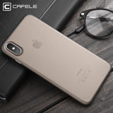 CAFELE Original Phone case for iphone X Ultra Thin Cute colors PP cases for Apple iphone X Fashion flexibility back Case