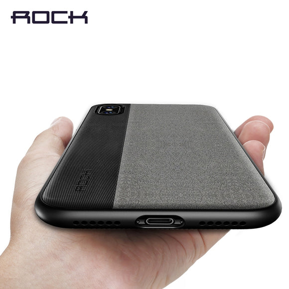 For iPhone X Case, ROCK Slim Full Protective Phone Leather Case for iPhone X Back Cover for iPhoneX Thin Protector Shell