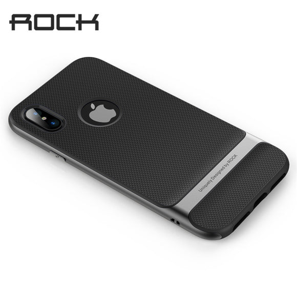 Rock Royce Case for iphone X Anti-knock Case Ultra Thin Slim Armor Cover Shell Hard PC+Soft TPU Back Cover for iphoneX