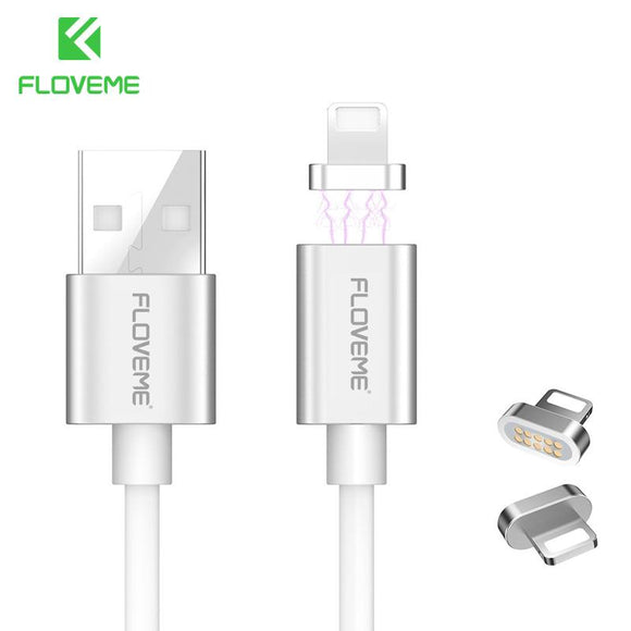 FLOVEME Magnetic Cable For Apple iPhone 7 8 Plus 6 6S Plus 5 5S SE Lighting USB Charging Cable For iPhone X Magnet Charger