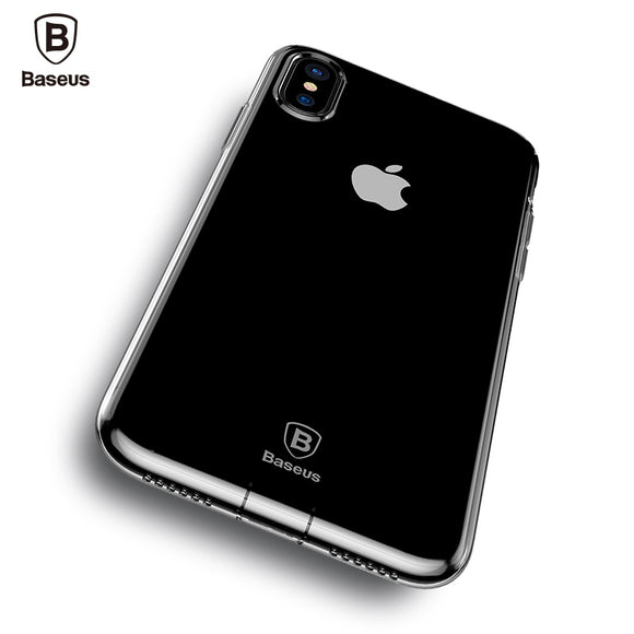 Baseus Dirt-resistant Case For iPhone X 10 Capinhas Ultra Thin Clear Soft TPU Silicone Cover Case For iPhoneX Coque Fundas