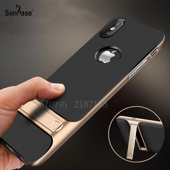 For Apple iPhone X Case TPU + PC 2 in 1 Phone Cases Ultra Thin Phone Stand Cove For Apple iPhone X Case