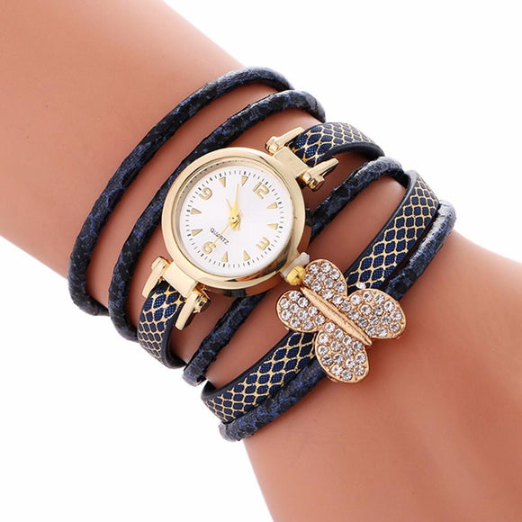 Metal Watch Bracelets 2017 New Arrival Top Brand Luxury PU Leather Quartz Watches Women Clock Gift Relogio Feminino