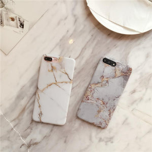 For iphone 7 7Plus Simple Crack Marble TPU Case for iphone X 6 6s 6plus 8 8Plus Scrub TPU case back cover Protective shell