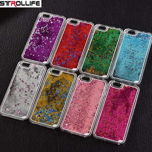 2017 Fashion Colorful sequins Dynamic Liquid Glitter meteor sand Clear Hard Shell Mobile Phone Cases For iphone4s/5SE/6 6s/7Plus
