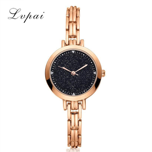 LVPAI Women's Simple Watches 2017 New Brand Stainless Steel Dress Women Bracelet Watches Women Fashion Watch 2017 Gift Reloj