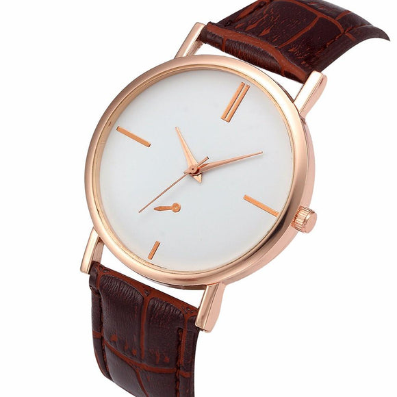 Rose Gold Women's Simple Watches 2017 New Arrival Top Brand Luxury Watches Women Clock Gift Montre Femme Woman Watch