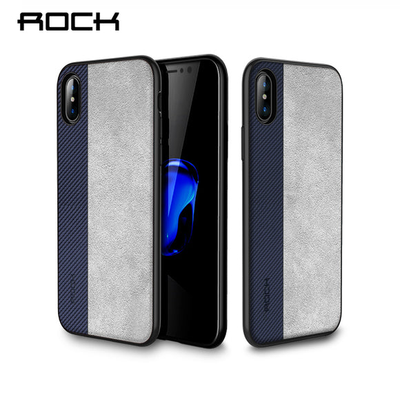 Rock Slim Case for iPhone X Cover PU Leather Phone Bag Case For iPhone X Coque Full Protective Phone Shell Back Capa