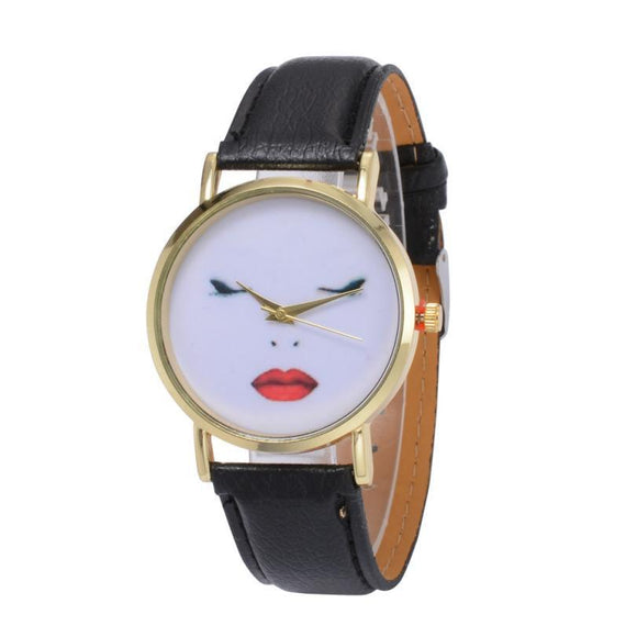 Women's Simple Watches 2017 Retro Design DIY Face Women Watches Gift Gold Quartz Watch Relogio Feminino