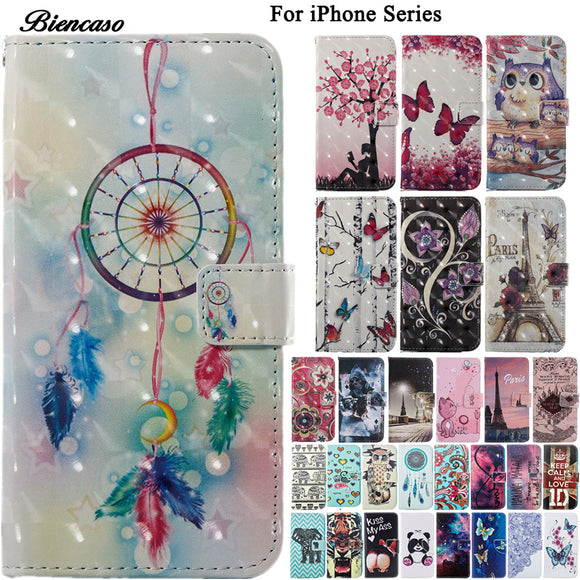 Colorfull Painted Shell Cover Case For Apple iPhone X 10 8 5 5S SE 6 6S 7 Plus Leather Coque Cases For iPod Touch 5 6 Fundas B0