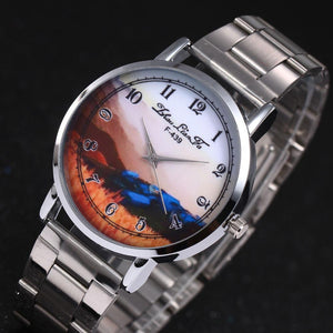 ZhouLianFa Landscape Women Watches Top Brand Luxury Stainless Steel Ladies Watch Gift Relogio Masculino