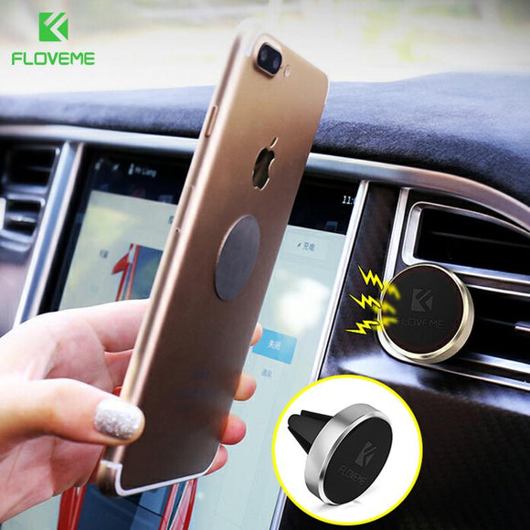 FLOVEME Car Holder Phone Holder Magnetic Air Vent Mount Magnet Smartphone Dock Mobile Phone Car Holder Bracket Alloy Holder