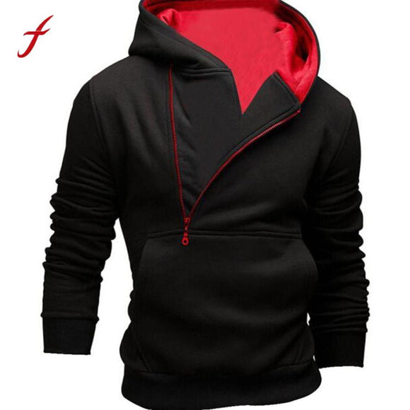 Men's sportswear hoody hoodies sweatshirt Men Casual Fashion Long Sleeve Solid Hoodie Hooded Sweatshirt Tops Jacket Coat Outwear