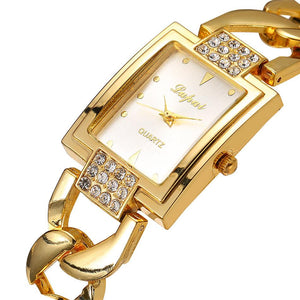 LVPAI Stainless Steel Gold Watches Women Fashion Watch 2017 Gift Crystal Rhinestone Watches Women Clock Relogio Feminino