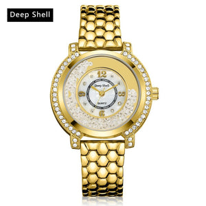 DeepShell Luxury Women Watches Crystal Diamond Elegant Bracelet 2017 New Brand Quartz Watch Relogio Feminino