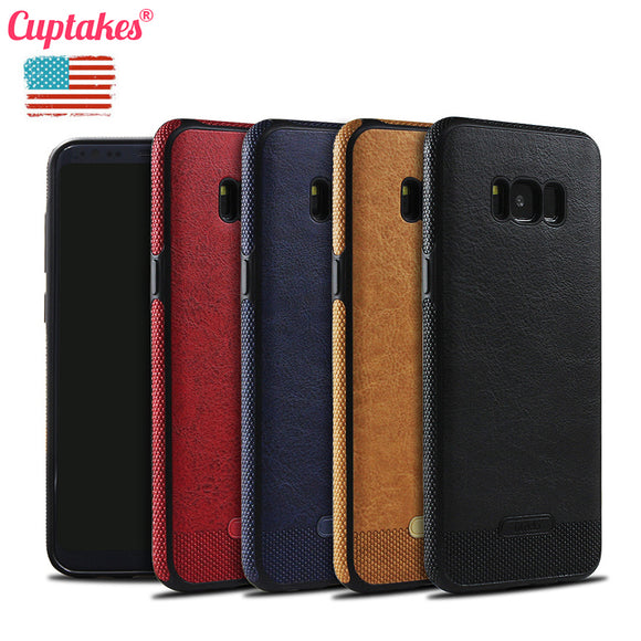 Cuptakes Luxury leather PU Soft Case for Samsung Galaxy S7 S7 Edge S8 S8 Plus Cover S6 S6Edge S7 S7Edge S8Plus coque Phone Cases