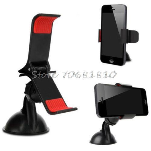 360 Degree Rotating Car Windshield Holder Mount Stand For Mobile Cell Phone GPS Hot -R179