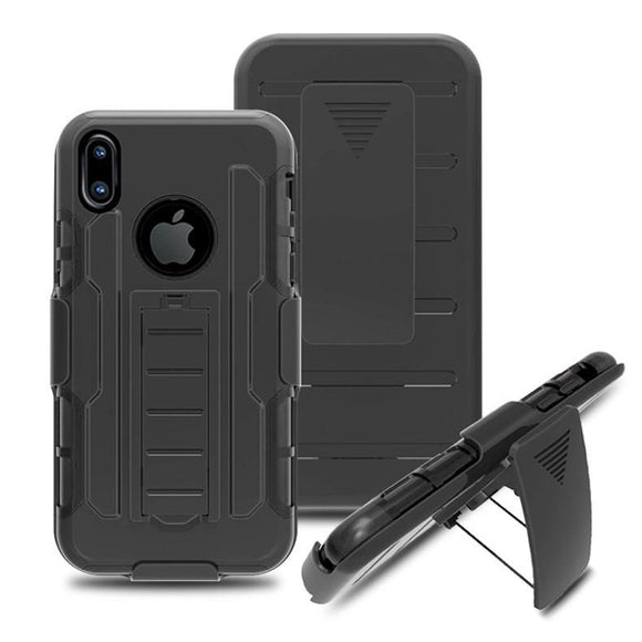 Luxury doom armor Dirtproof Shockproof back clip cell phone case cover For iphone 6 6S 6 plus 7 8 plus iphone X with bracket