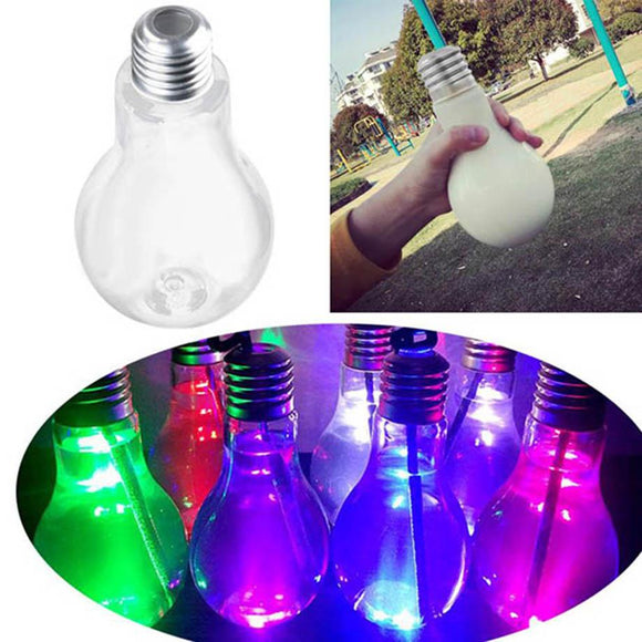 MUQGEW New Summer Glowing Bulb Water Bottle Cute Brief Fashion Cute Milk Juice Light Bulbs Cup Leak-proof Instagram Hot 2017