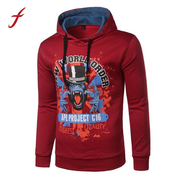 2017 Autumn Winter Sweatshirts Long Sleeve Print Casual Hoodie Hooded Sportwear Tops Blouse Daily Simple Fashion Breathable tops