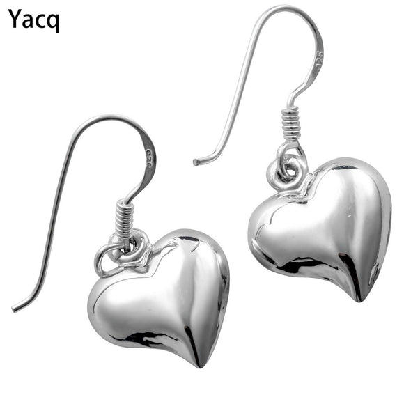 YACQ 925 Sterling Silver Heart Love Dangle Earrings Jewelry Birthday Gift for Women Wife Her Girlfriend Girls ping CE42