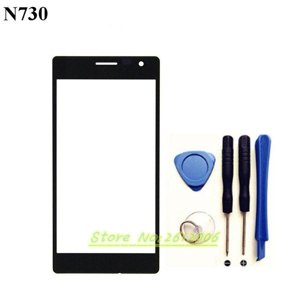 Original Touchscreen For Nokia Lumia 730 735 Sensor Touch Screen Digitizer Front Glass + tools
