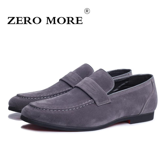 ZERO MORE High Quality Slip on Men Shoes Leather Loafers for Man Footwears Casual Breathable Men Flat Shoes 4 Colors #ZM88
