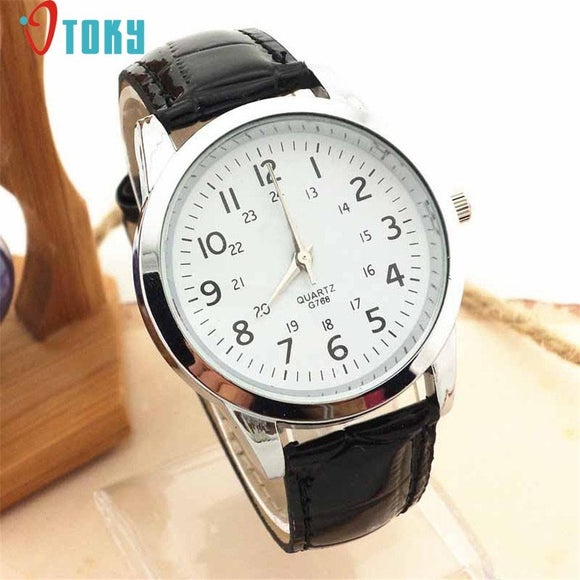 Watch OTOKY Willby Man Fashion Brief Sports Leather Strap Quartz Mens Wrist Watch 161222