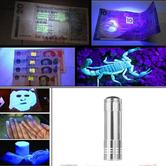 MUQGEW Flashlight Black light Torch Light Lamp High Quality 2017 Newest Mini Aluminum UV Ultra Violet 9 LED Limited Promotion