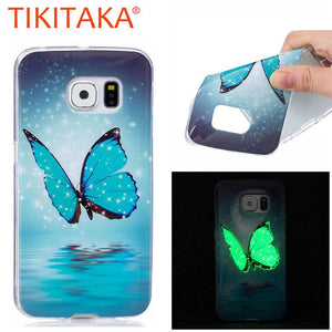 Luminous Cover For Samsung Galaxy S6 S7 edge S5 Case Ultra Thin Slim Clear Soft TPU Silicone GEL Phone Cases Embossed Light