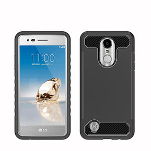 2 In 1 TPU + Hard PC Anti Shock Hybrid Armor Case Drop Protection Tough Cover For LG Aristo MS210/LV3/K8 2017/Phoenix 3/Fortune