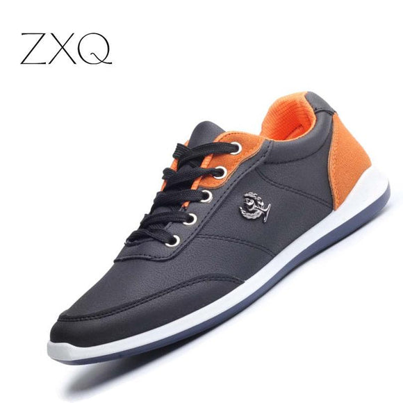 New 2017 Men Shoes Lace Up Designer Spring Autumn Fashion Men Casual Shoes Male Footwear For Men Black Blue