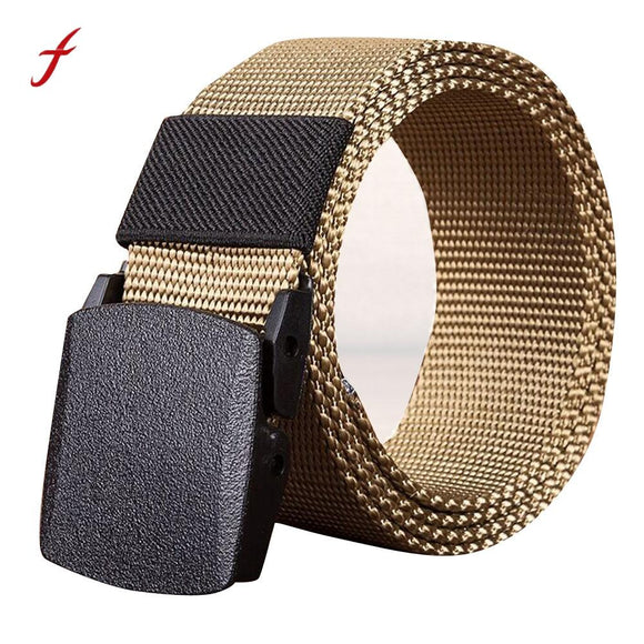 2017 Hot Canvas Tactical Casual Belts Men's Fashion Wild Korean Thicken Long Cloth Belts Male Knitted Waistband Ceintures Homme