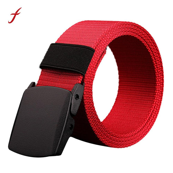 Modern Designer Belts High Quality men and women Canvas Belt Hypoallergenic Metal free Automatic Buckle jeans Luxury Brand Belt