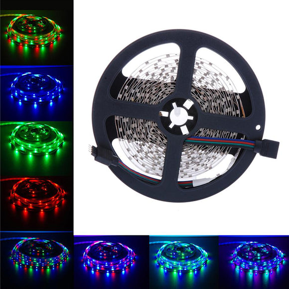 MUQGEW LED Flexible Light Strip Lamp DC 12V Super Bright 2017 Newest Low power consumption Super-bright5M 3528 SMD RGB 300LEDs
