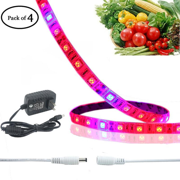 LED Grow Strip Light Kit IP65 Full Spectrum 0.6m/strip Growing Bar Light+Adapter+DC extend connector 12v LED Plant Light Strip
