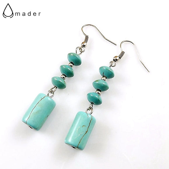 Amader Women Jewelry Wholesale Vintage Tibetan Silver Long Section Round Beads Individuality Women Women Dangler Earring E3328