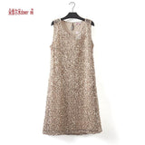dower me drop shipping plus size stretchable women sequin sleeveless dress casual dresses party evening elegant vestidos de fest