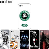 ciciber Star Wars R2D2 BB8 Coffee Stormtrooper Darth Vader soft silicon phone cases cover for iPhone 6 6S 7 8 plus 5S SE X