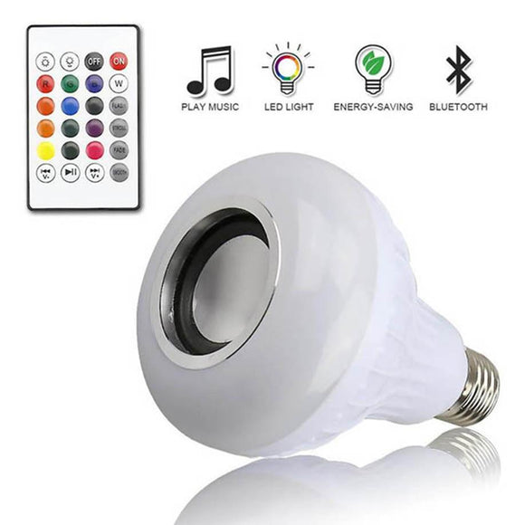 MUQGEW MusicLed Light Bulb with Bluetooth Speaker RGB Built-in Audio Speaker Super Bright Blinding Effect Favorable Price 2017